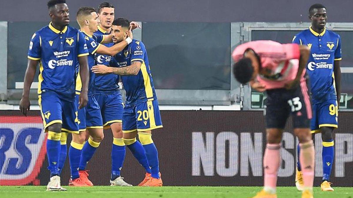 El Juventus se estrella contra el muro del Verona antes del Barça (1-1) -  Eurosport