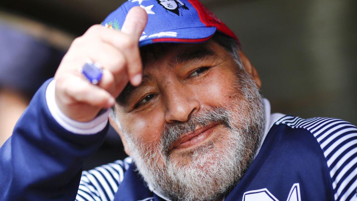 Diego Armando Maradona ritratto nel novembre 2019 in Argentina