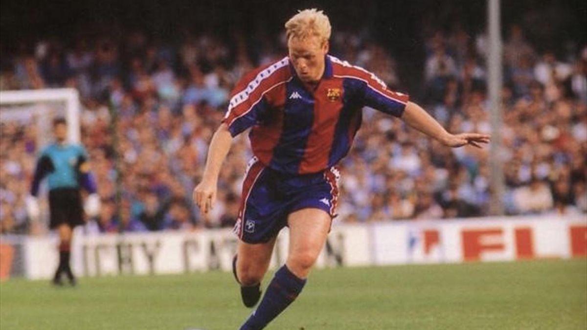 Koeman, jugador del Barça