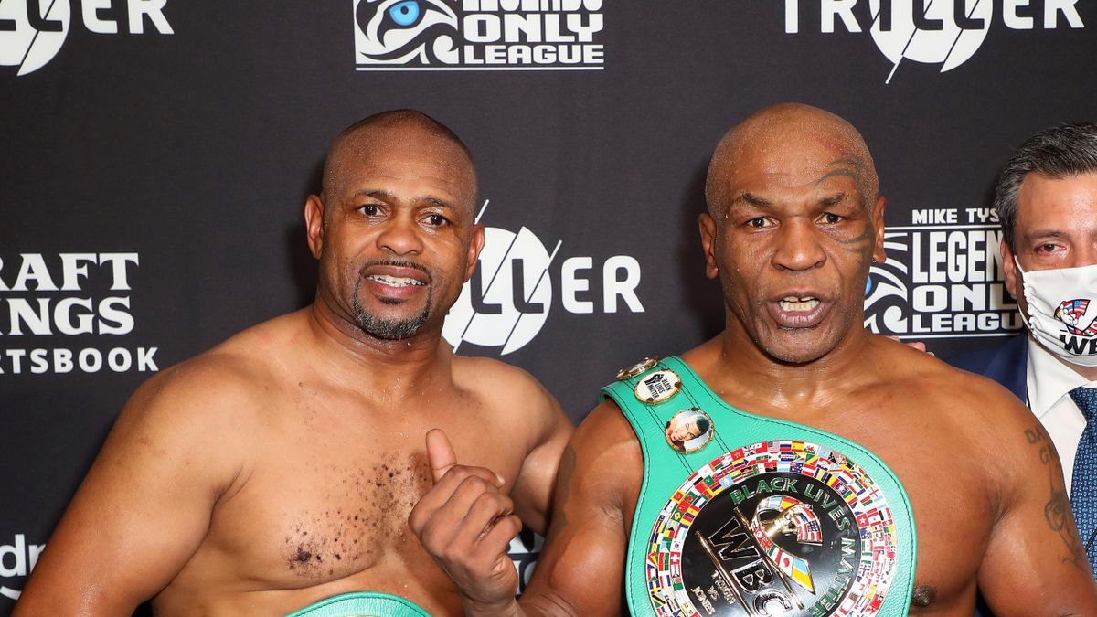 Mike Tyson fights to draw with Roy Jones Jr. in exhibition - Eurosport