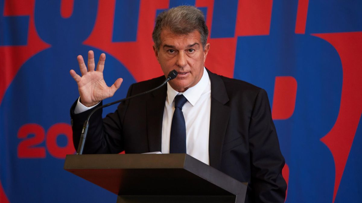 Joan Laporta presenta su candidatura a las elecciones del Barcelona