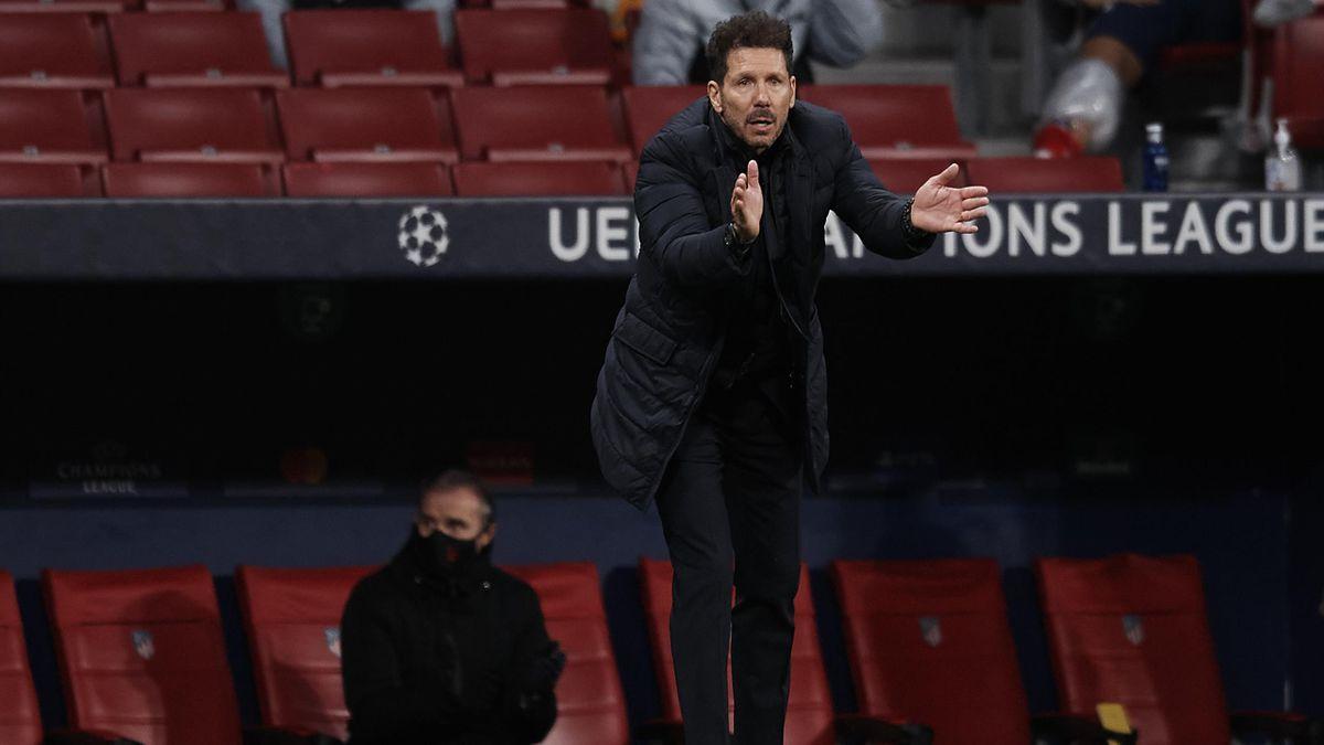 Simeone, en un partido de Champions