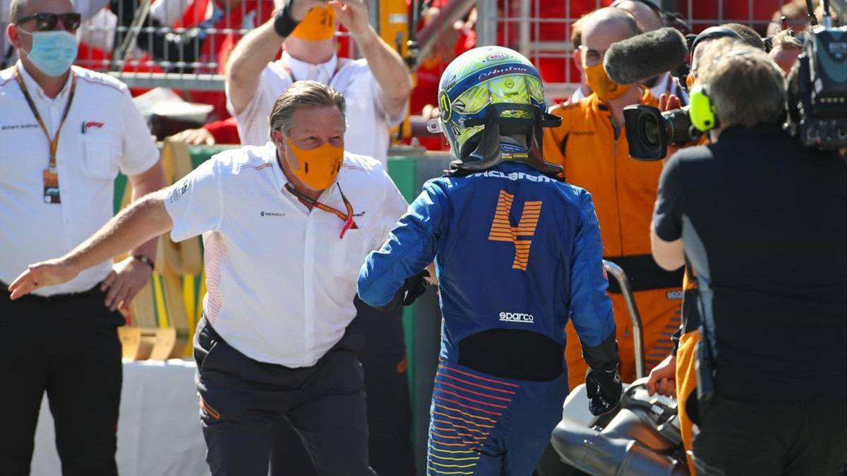 'Genuine' Norris praised by 'proud' McLaren boss