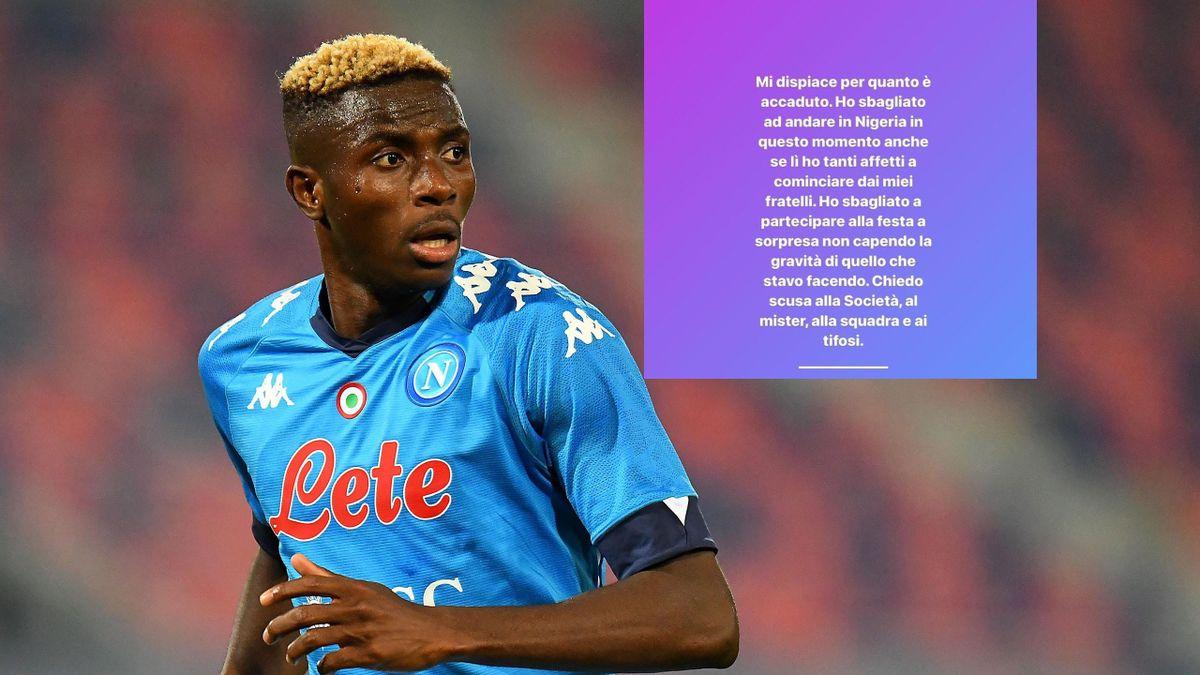 Osimehn chiede scusa al Napoli