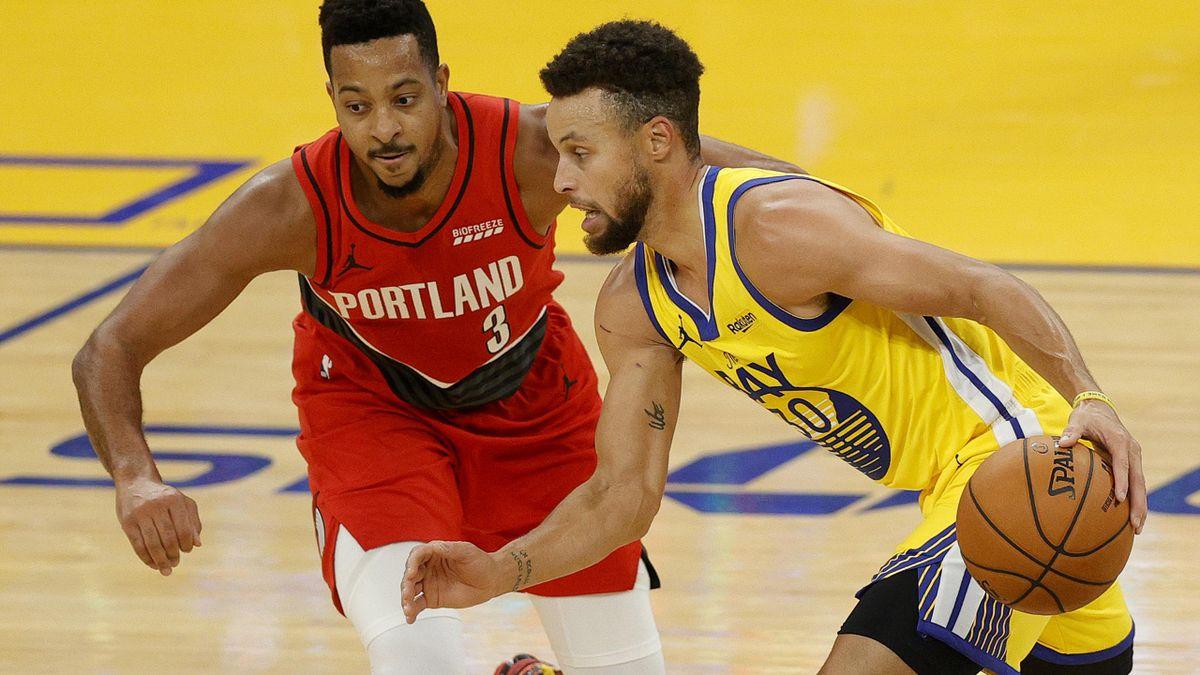 Steph Curry führt die Warriors mit 62 Punkten zum Sieg