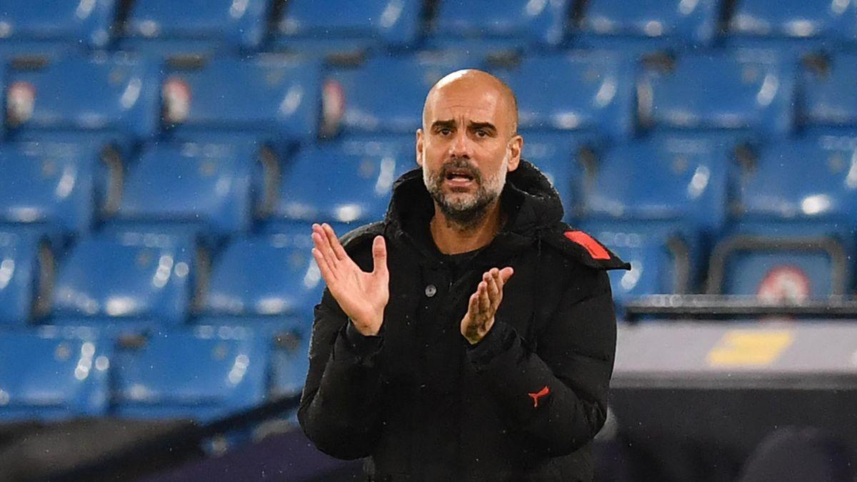 Pep Guardiola steht mit Manchester City im Pokalfinale
