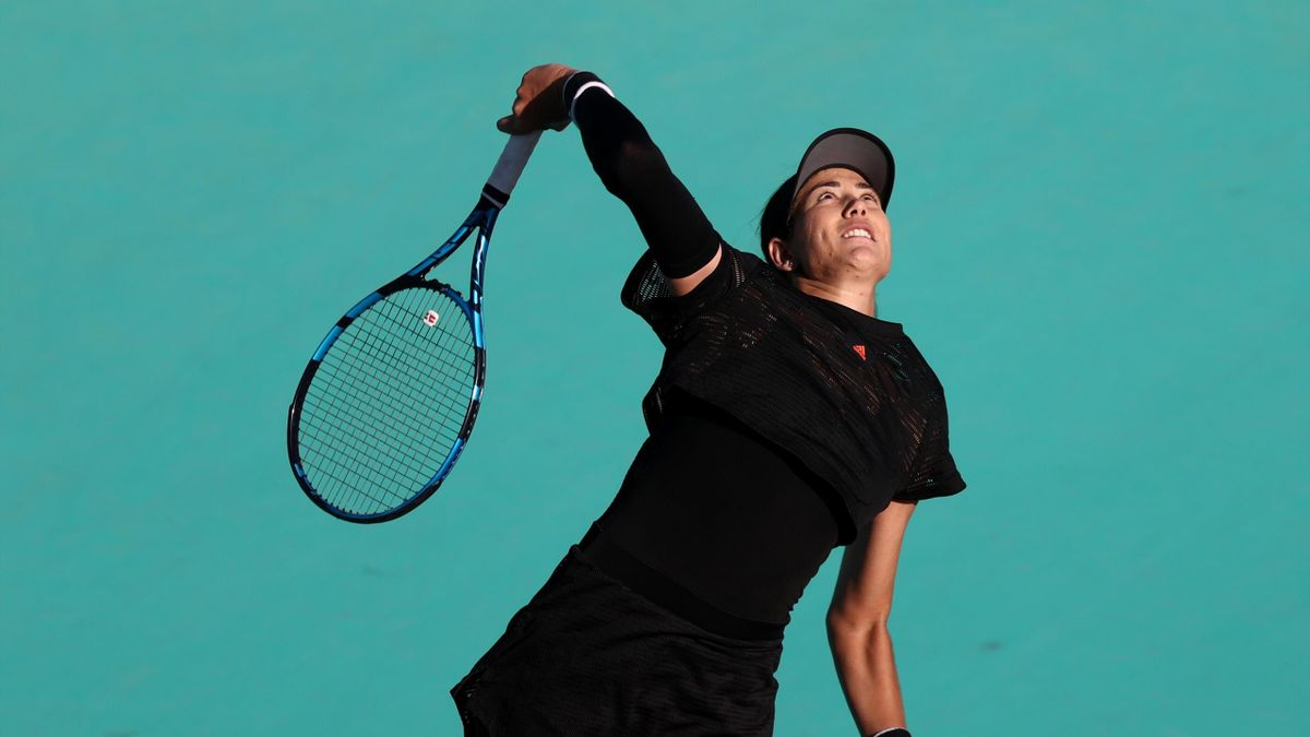 Garbiñe Muguruza en el WTA Abu Dhabi