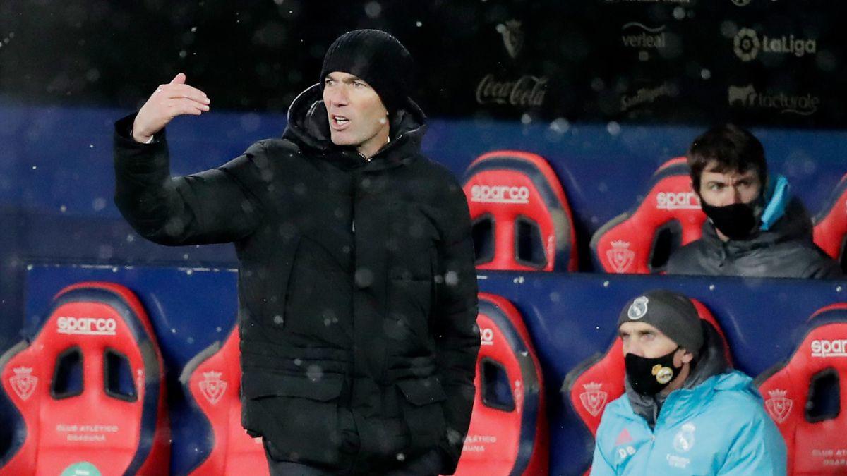 Zinedine Zidane, durante el Osasuna-Real Madrid