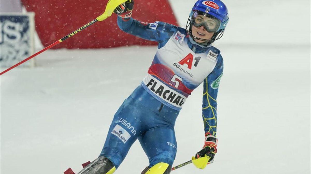 Mikaela Shiffrin vince a Flachau, Austria