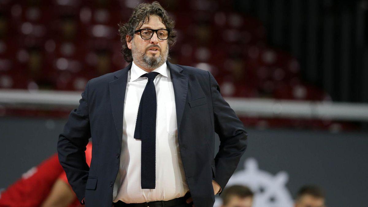 Fehlte beim Bayern-Sieg: Chefcoach Andrea Trinchieri