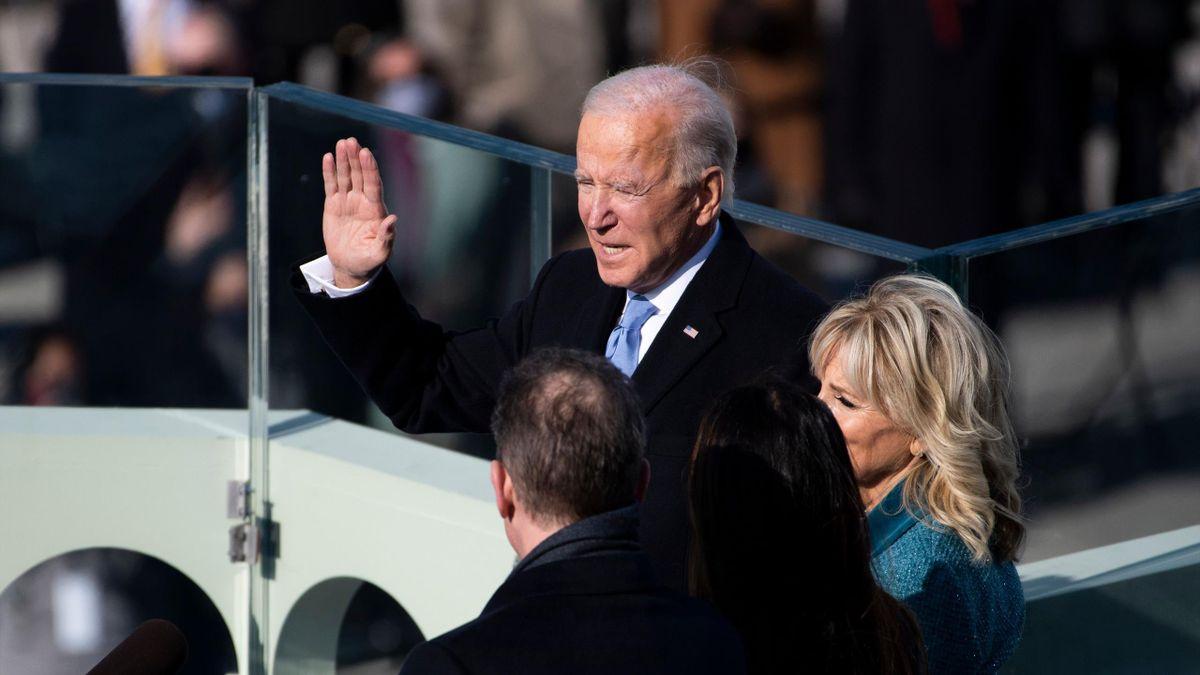 Joe Biden, durante su proclamación como presidente de Estados Unidos