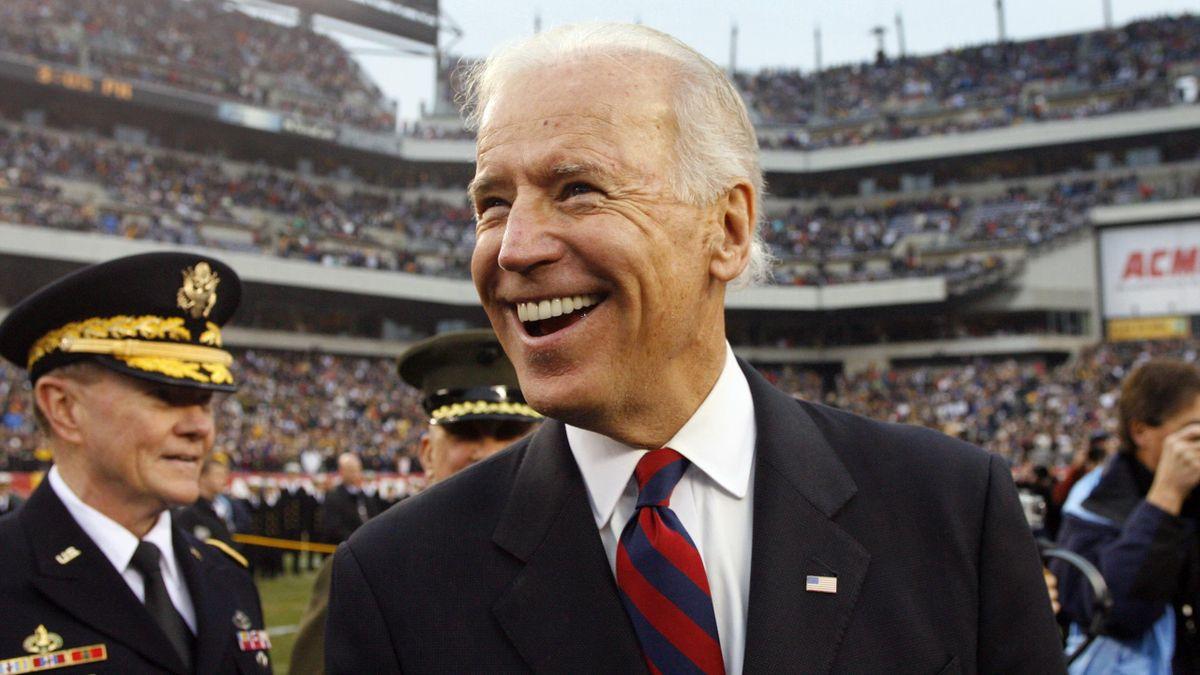 Joe Biden, en un partido de la NFL entre los Army Black Knights y los Navy Midshipmen