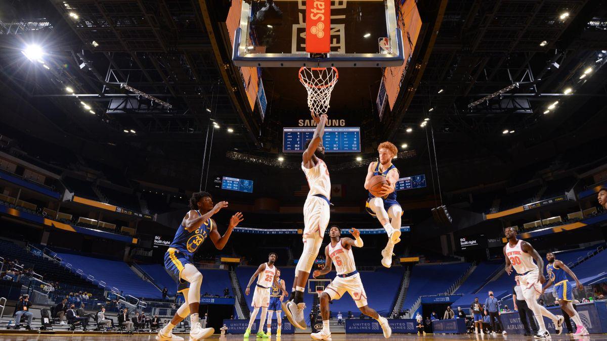 Nico Mannion, primo punto in NBA
