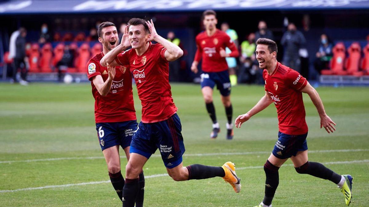 Budimir celebra su segundo gol