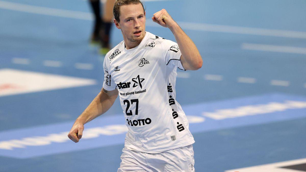 Malte Voigt spielte schon im Dezember für Kiel