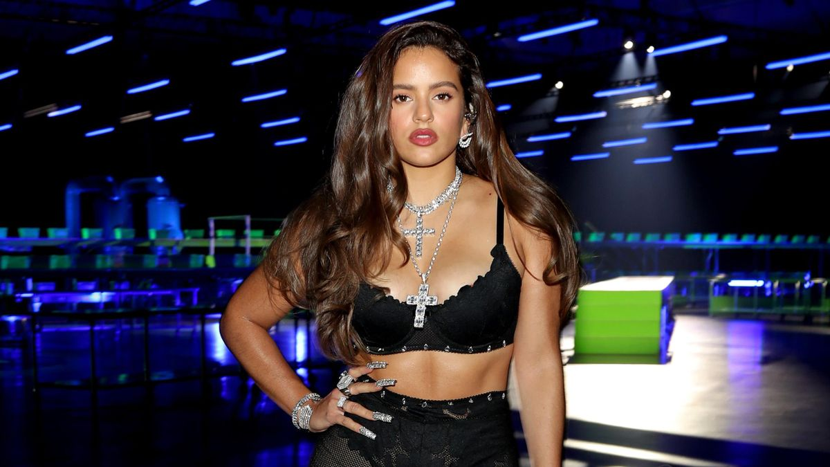 , Rosalía is seen onstage during Rihanna's Savage X Fenty Show Vol. 2 presented by Amazon Prime Video