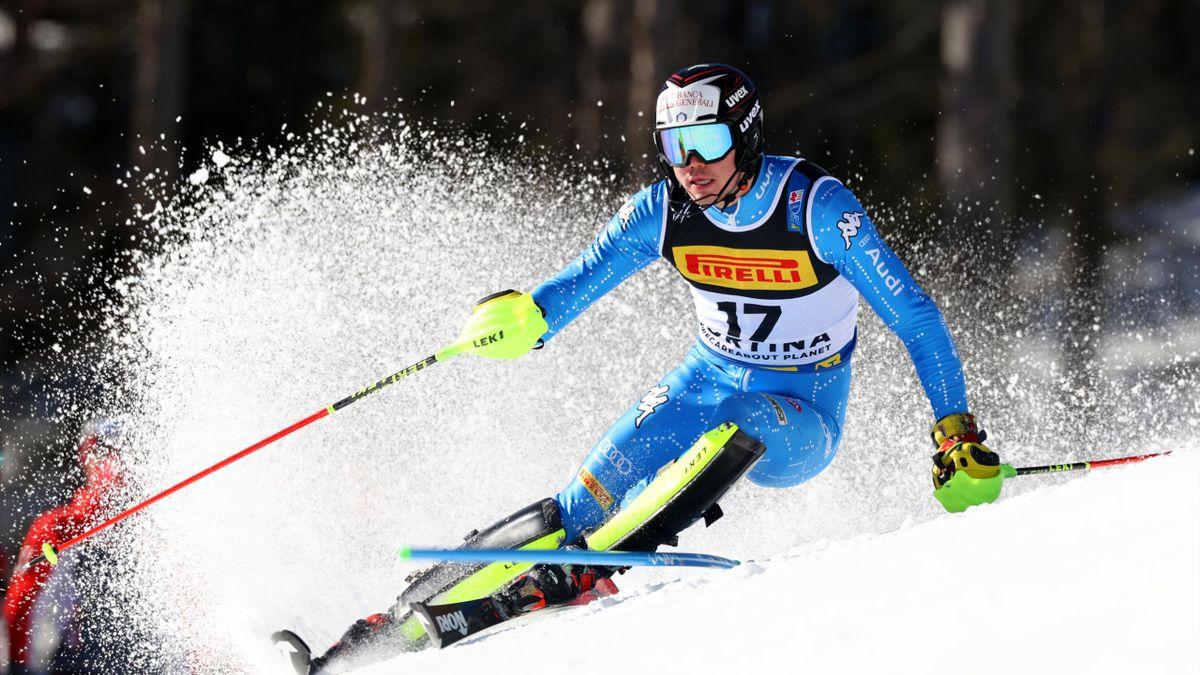 Alex Vinatzer nello slalom iridato