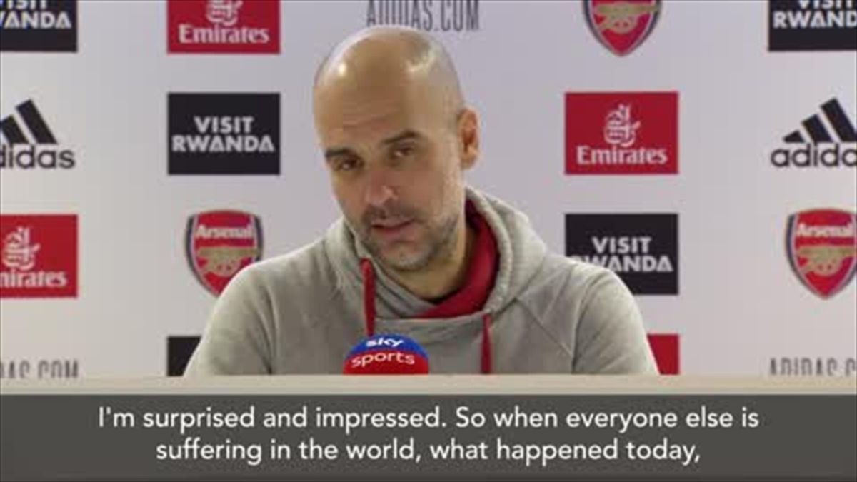 Guardiola 'surprised and impressed' by winning run