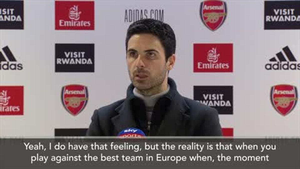 Arteta: Man City are 'best team in Europe'