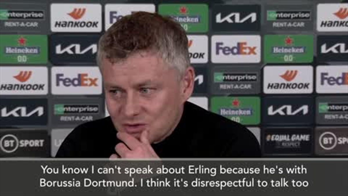 'Who wasn't interested' - Solskjaer on Haaland how he still talks to him