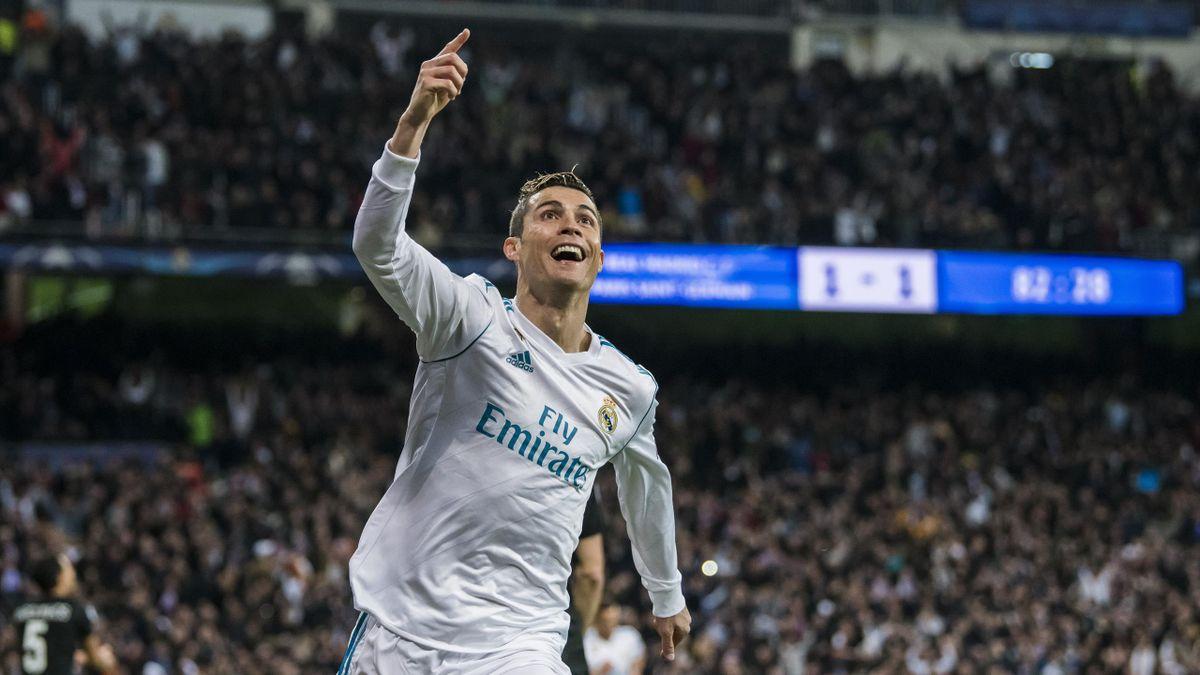 Cristiano Ronaldo, în tricoul lui Real Madrid.