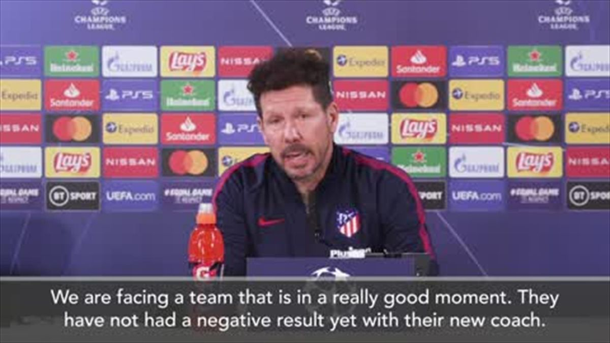'They are a very dynamic team' - Diego Simeone on the challenge of facing Chelsea