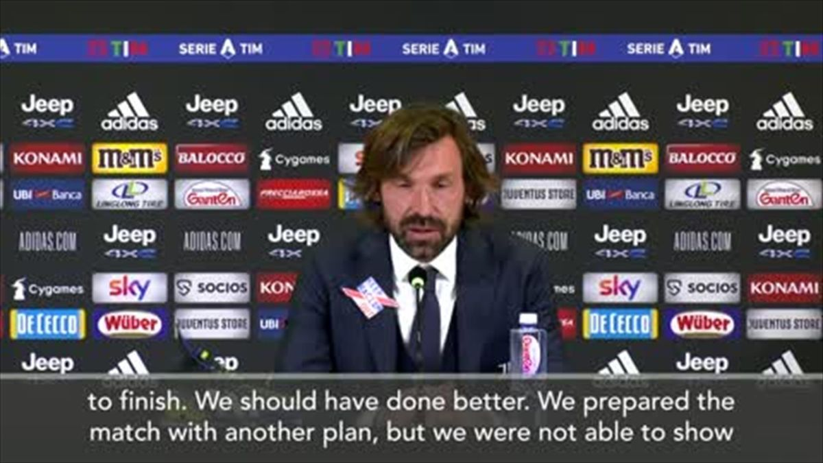 'Juve played bad from start to finish' - says Pirlo after a shock 1-0 loss