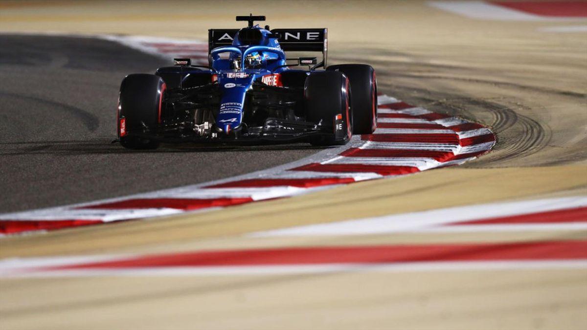 Alonso durante la Q3