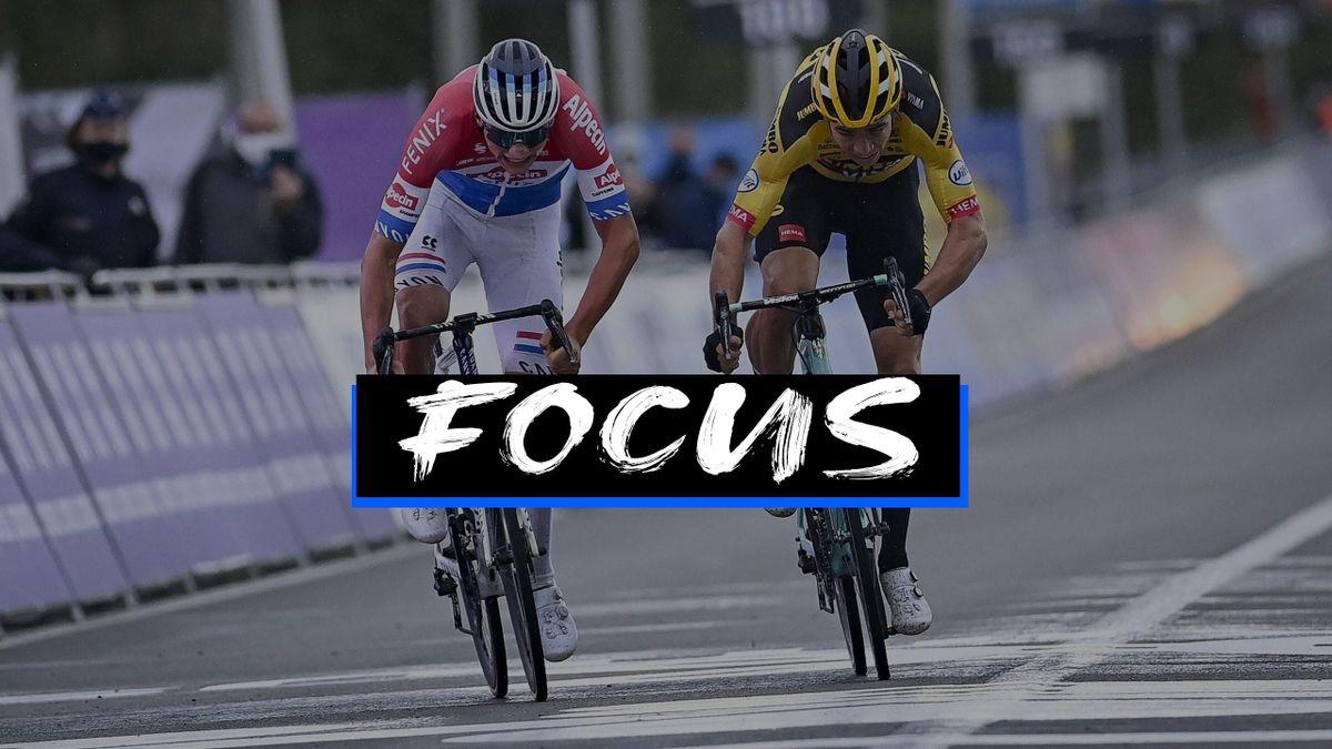 Mathieu van der Poel e Wout van Aert al Fiandre 2020