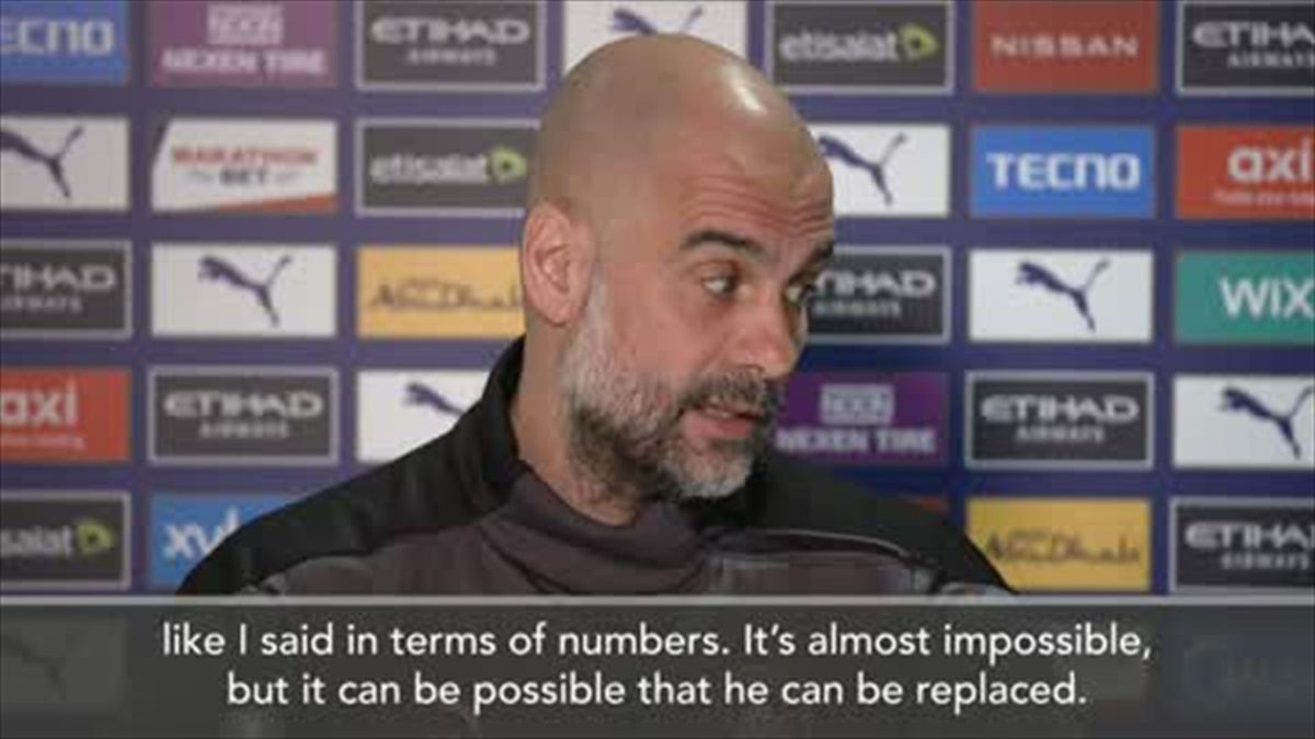 'It's impossible' - Pep Guardiola says no player can replace Sergio Aguero in Man City lore