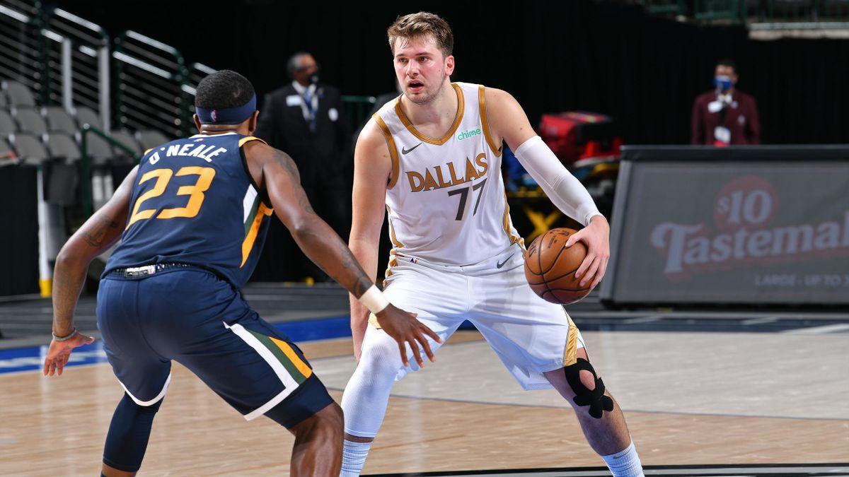 Luka Doncic, en el partido entre los Dallas Mavericks y Utah Jazz