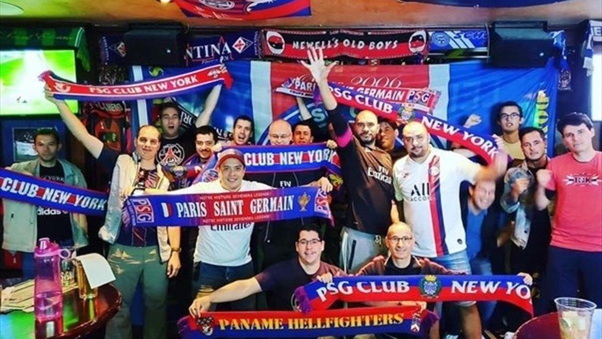 Les fans du PSG à New York