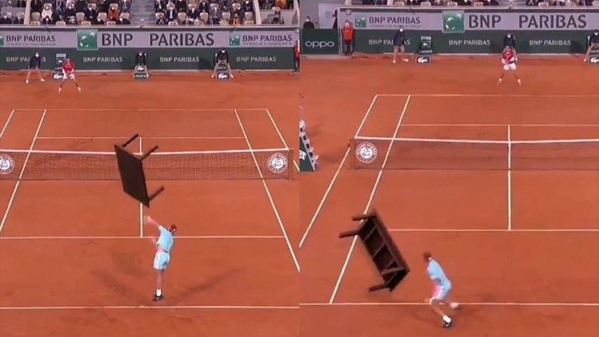 """Nadal y Djokovic juegan al """"tenis de mesa"""""""