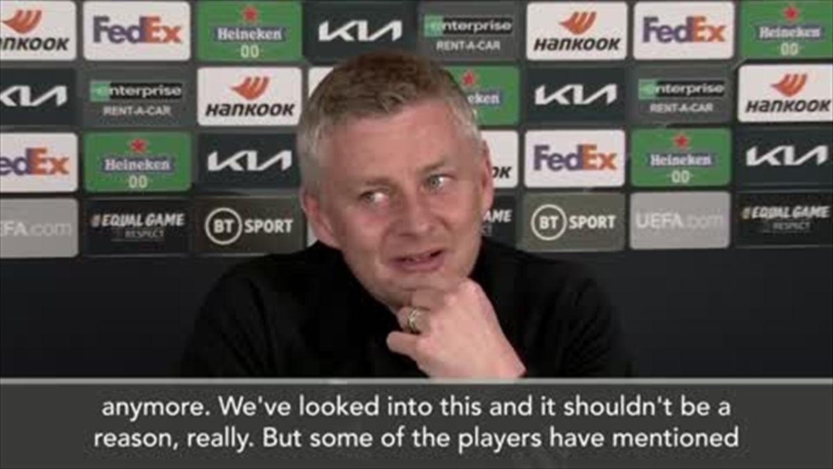 'They're not red anymore' - Solskjaer explains change of banners at Old Trafford