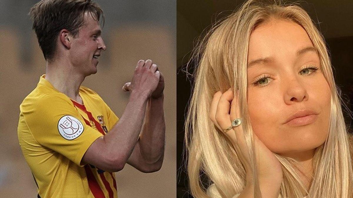 De Jong y su novia, Mikky Kiemeney