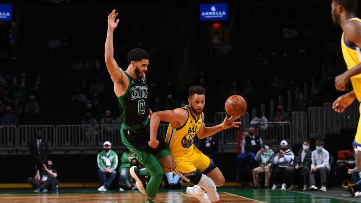 Curry y Tatum en un duelo espectacular