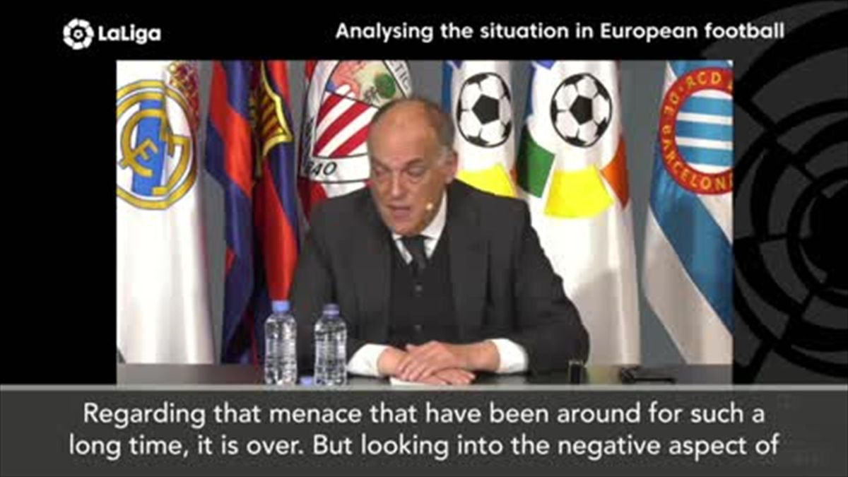 'The menace is over' – La Liga president Tebas on the European Super League