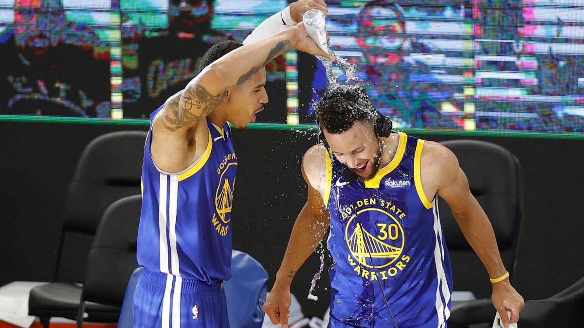 Nicht zu stoppen: Stephen Curry (r.)