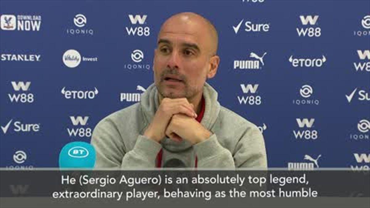 Guardiola praises 'top legend' Aguero