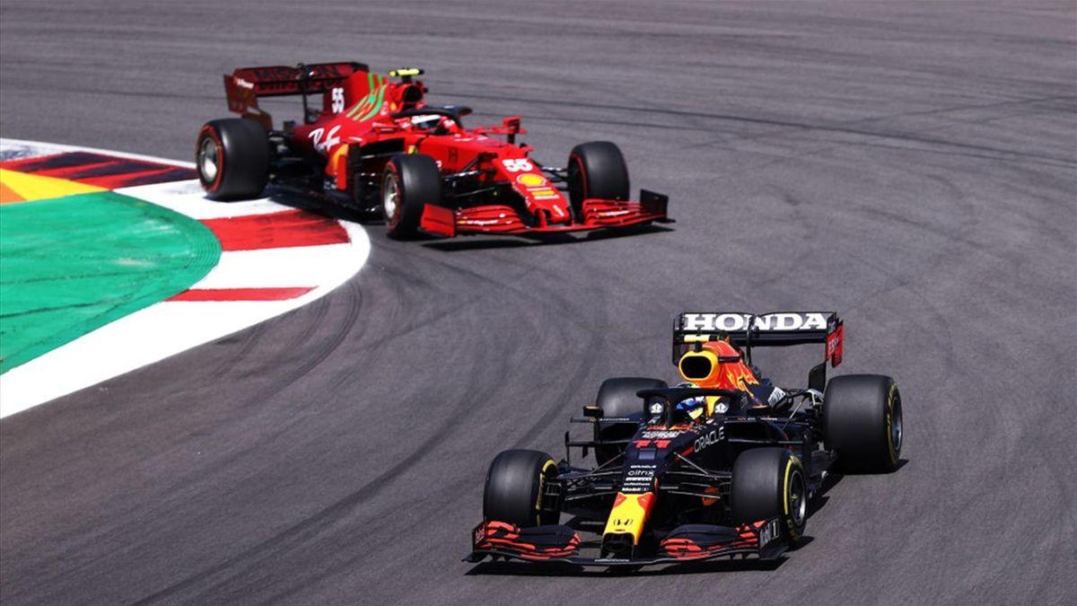 Sainz y Checo Pérez en el GP de Portugal