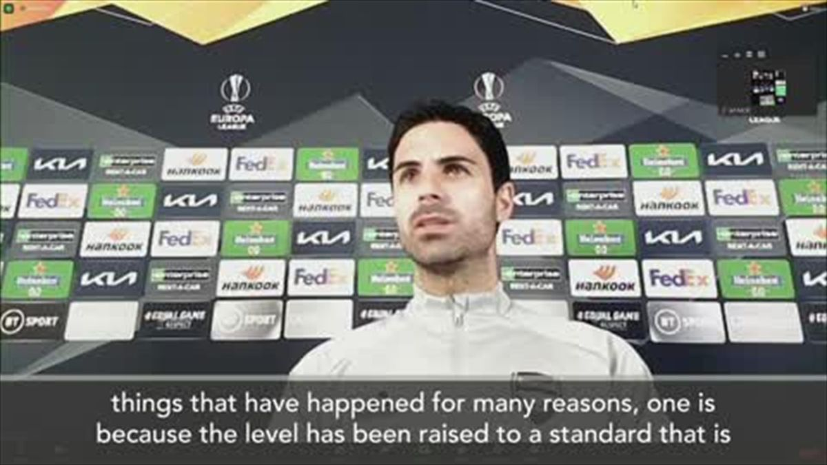 """""""It's the reality"""" says Arteta over Arsenal's lack of Champions League football"""