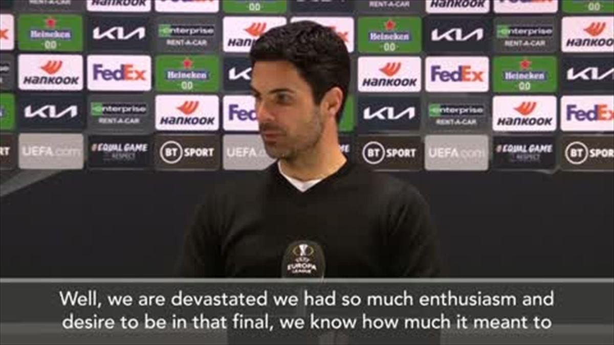'We are devastated' - Mikel Arteta says Arsenal should have beaten Villarreal