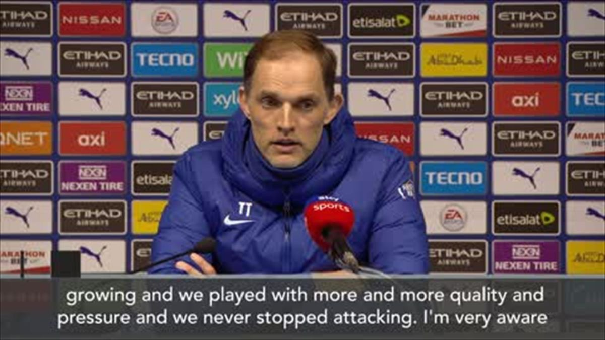'We never stopped attacking' - Tuchel delighted as Chelsea beat City
