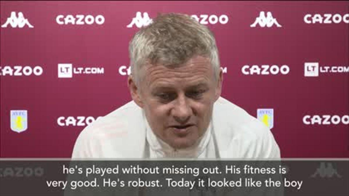 Solskjaer lauds 'robust, excellent' Maguire after win over Villa