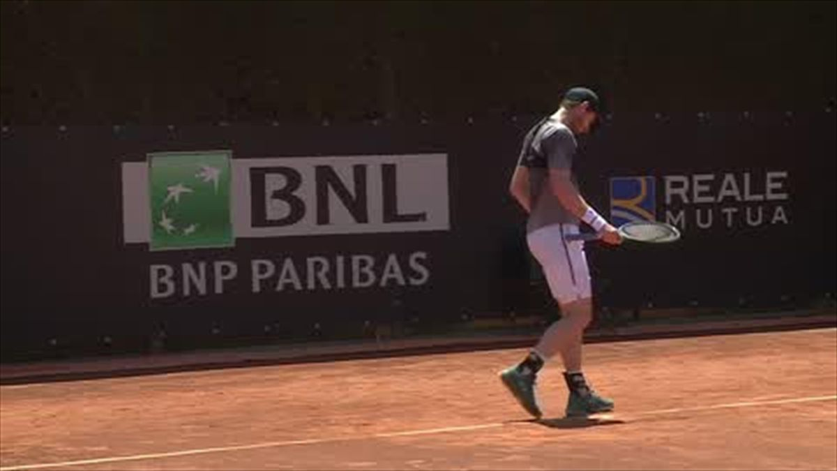 Murray practises with Schwartzman in Rome ahead of French Open