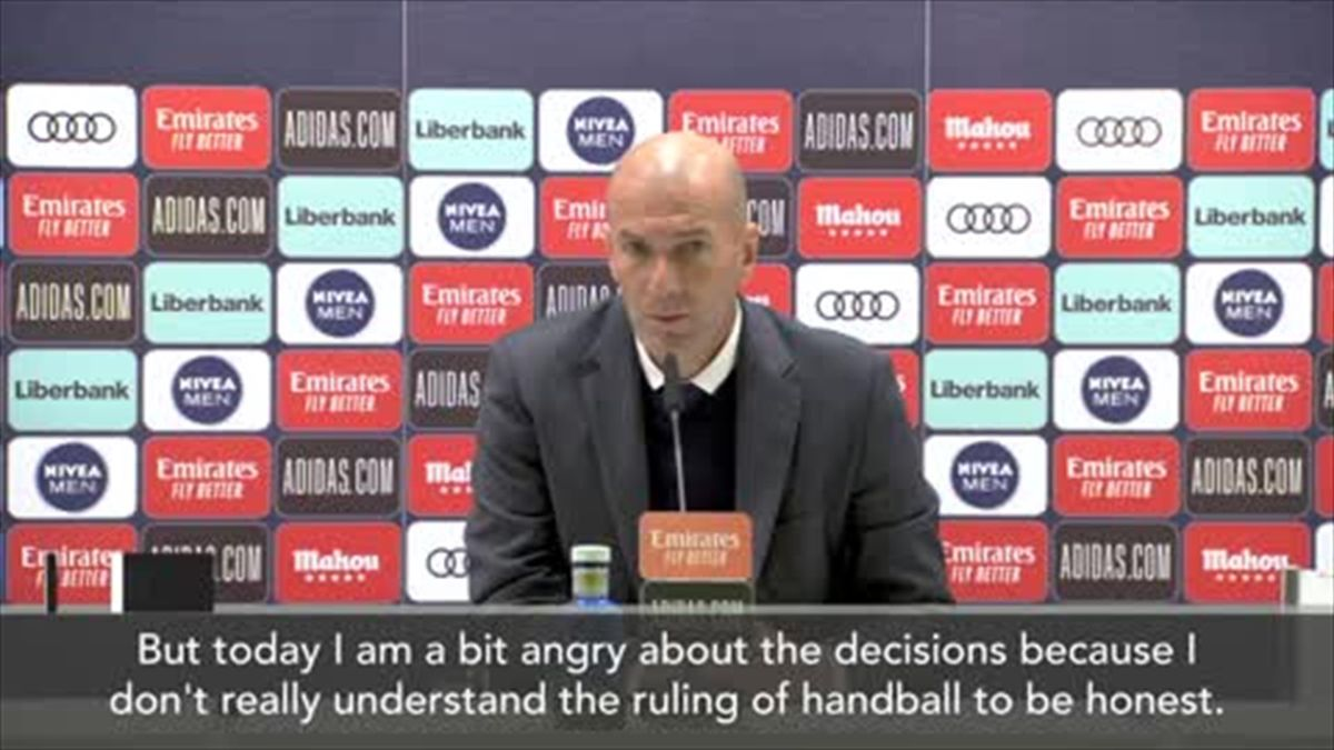 'I don't really understand' - Zidane on handball decisions