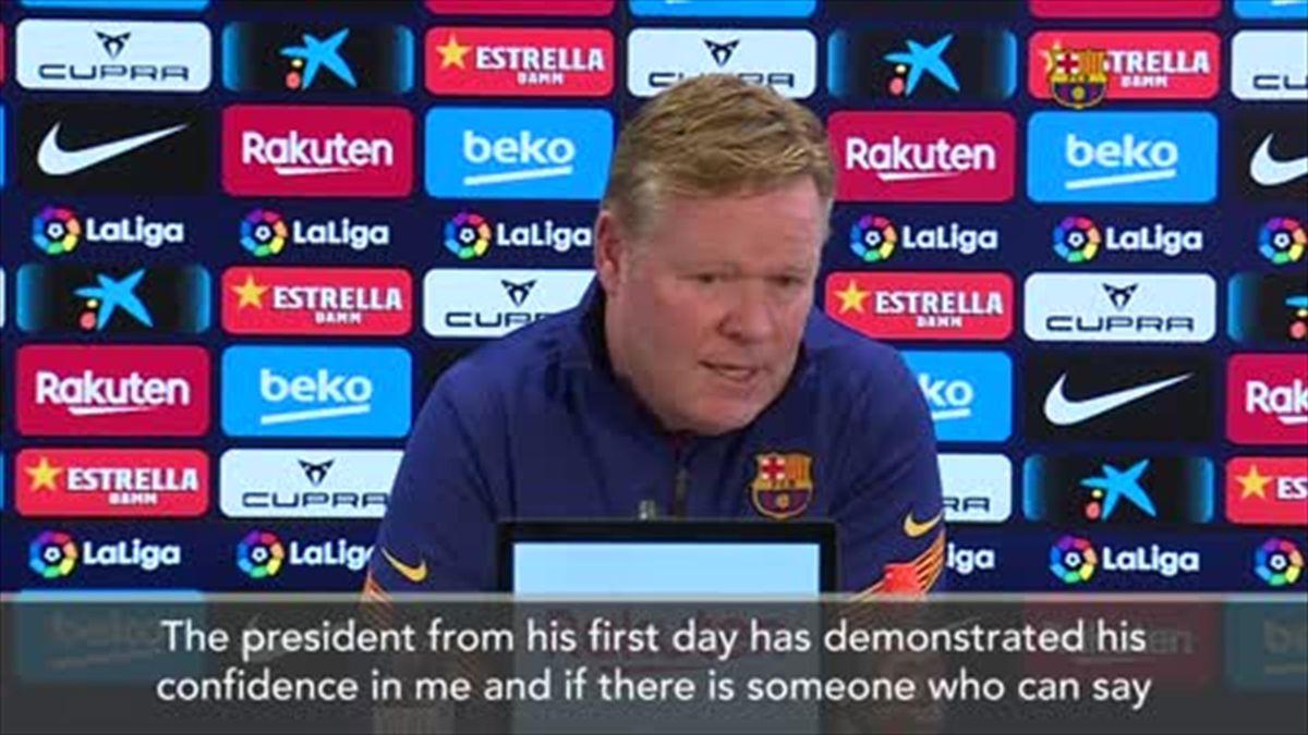 'I see myself as Barca coach next season' - Koeman
