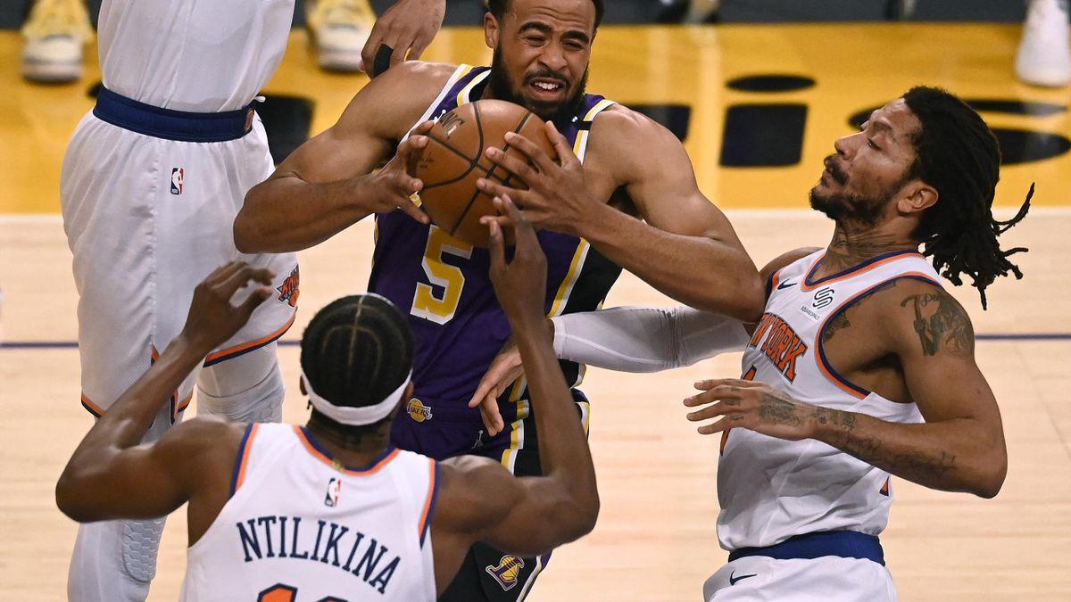 Die Lakers setzten sich knapp gegen die Knicks durch