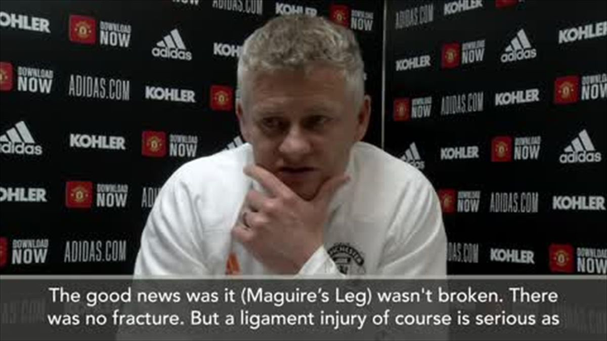 'Maguire won't play again in the league this season' - Solskjaer
