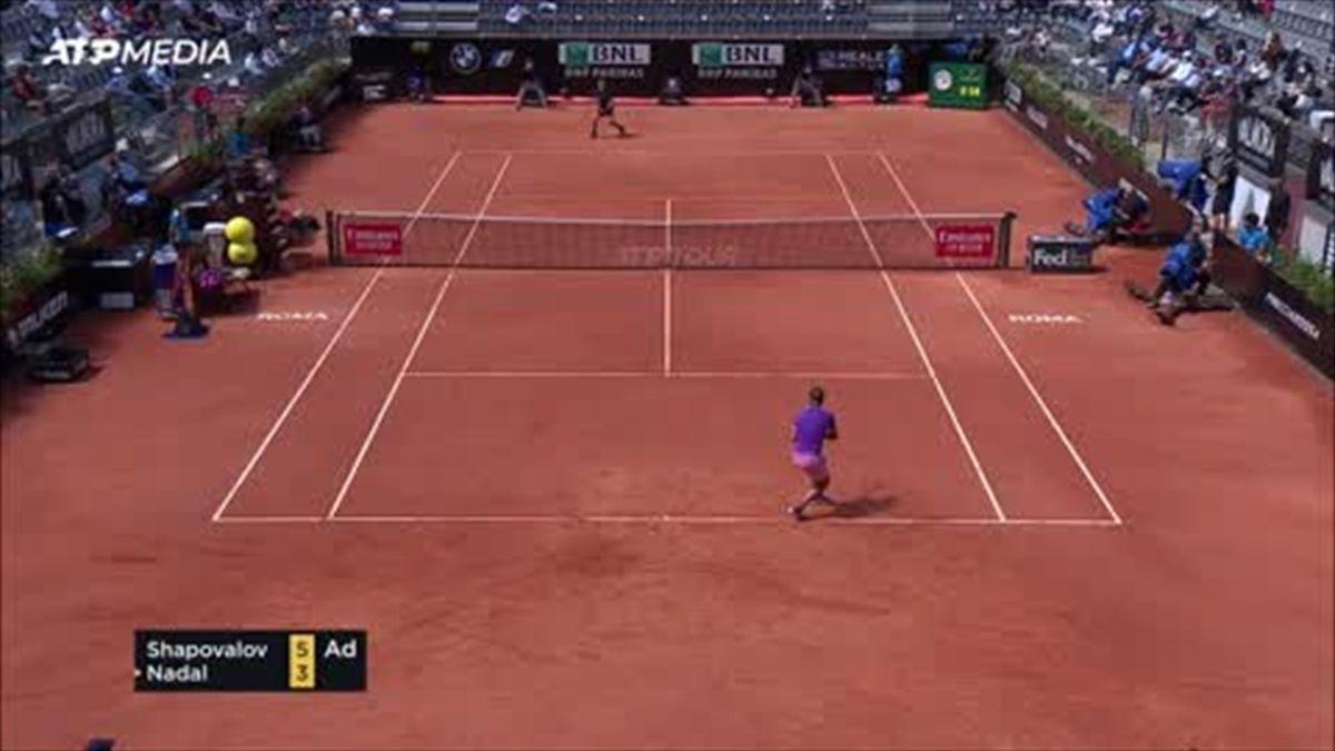 Nadal triumphs in thriller over Shapovalov in Rome